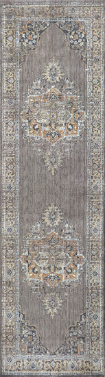 Traditional Power-Loomed 5 x 8 Rectangle Rug in Gray