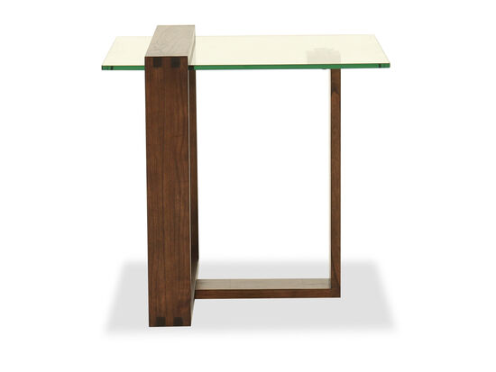 Rectangular End Table in Acorn