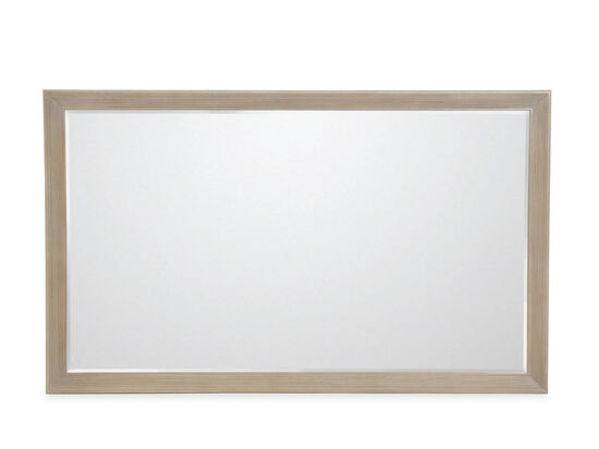 "32"" Transitional Rectangular Accent Mirror in Light Brown"