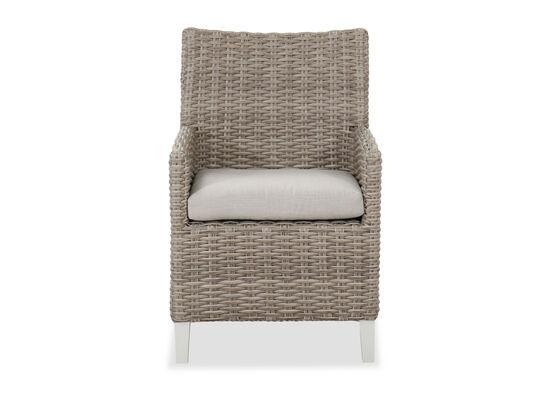 Aluminum Patio Dining Chair in Beige