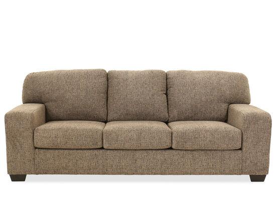 """Contemporary 92"""" Sofa in Granite"""