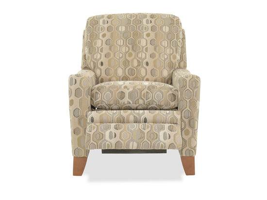Geometric-Patterned Transitional 33'' Power Recliner