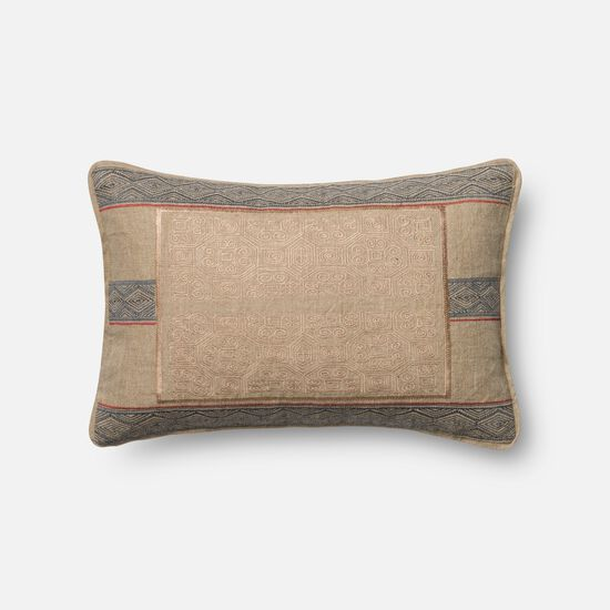 "13""x21"" Pillow Cover Only in Beige/Blue"