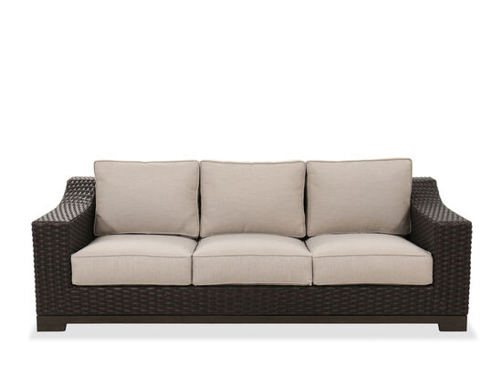 Contemporary Patio Sofa in Brown