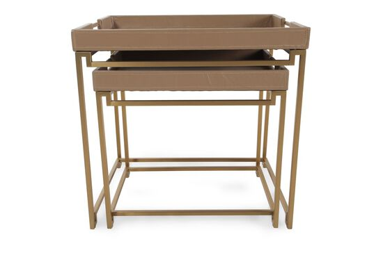 In/Out Box Contemporary End Tables in Brown