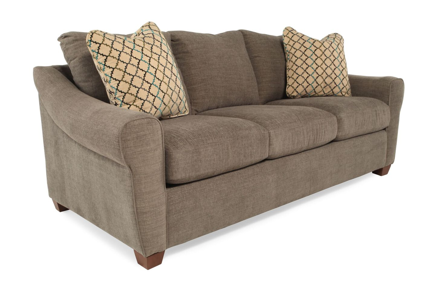 Keller Dining Room Furniture Contemporary Comfort Core Sofa In Brown Mathis Brothers