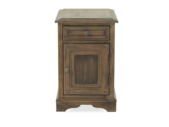 One-Drawer Refined Romantic Luxury Chairside Table in Brown