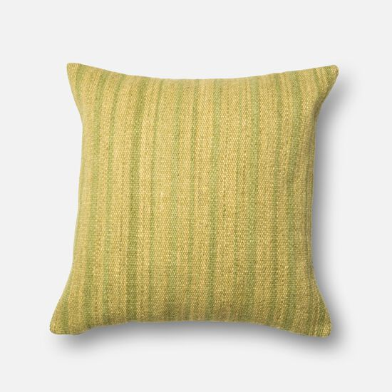 """Contemporary 22""""x22"""" Cover w/down pillow in Green"""