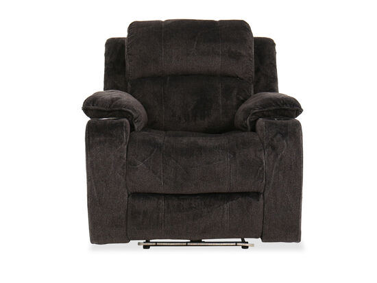 Two-Cup Holder Casual 38.5'' Power Recliner in Brown