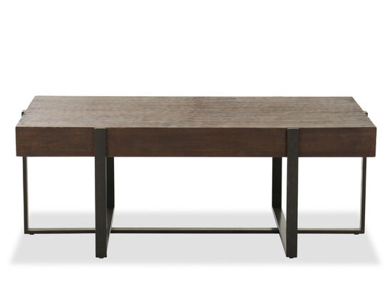 Contemporary Rectangular Cocktail Table in Light Brown