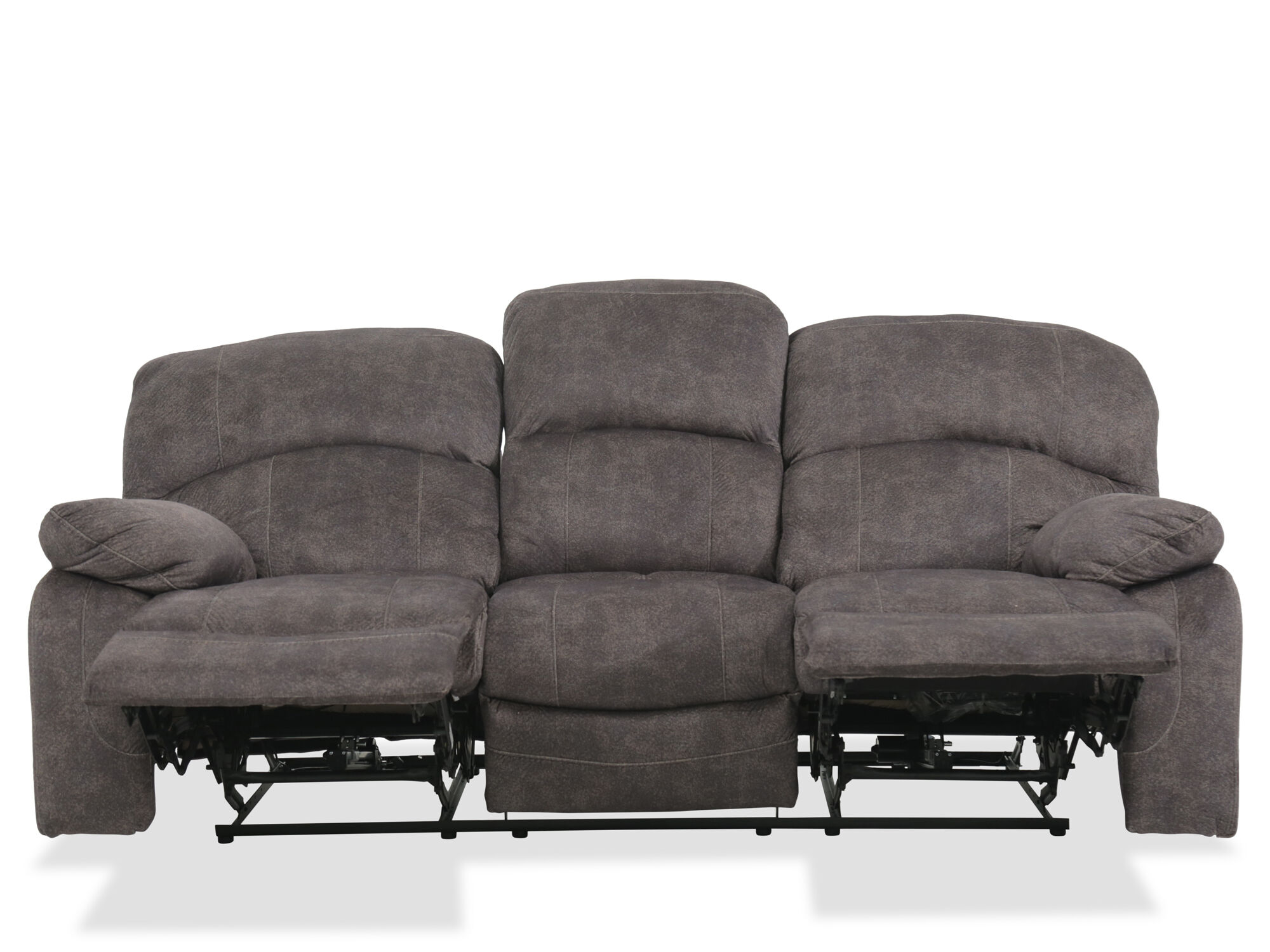 87 Reclining Sofa With Usb Charging Station In Gray Mathis Brothers Furniture