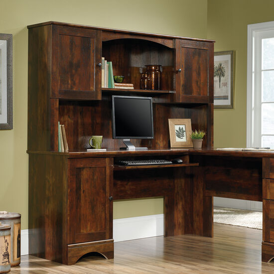 "66"" Contemporary Open-Shelf Hutch in Curado Cherry"