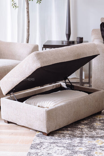 Casual 36'' Storage Ottoman in Marble