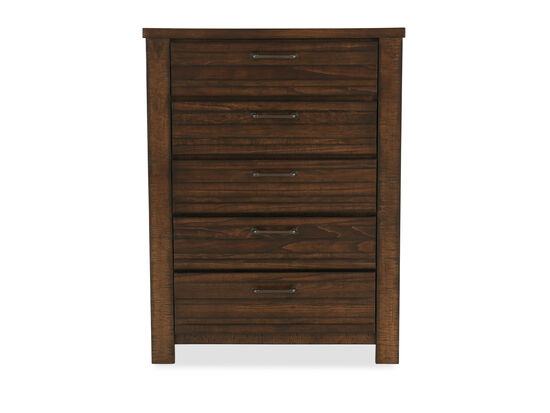 "48.5"" Five-Drawer Traditional Chest in Tobacco"