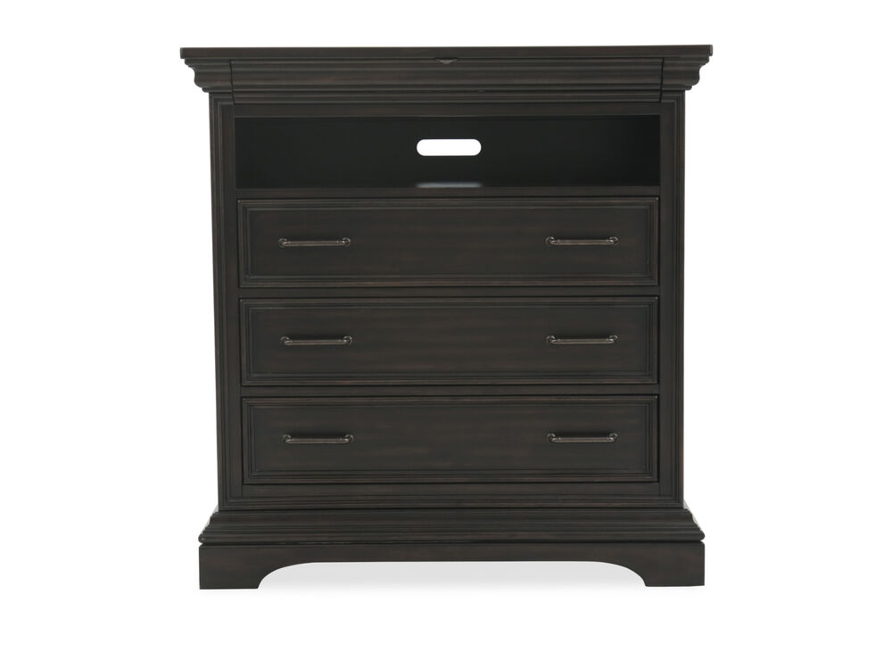 "46"" Traditional Four-Drawer Media Chest In Black"