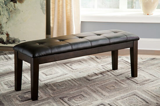 "Casual 49.50"" Button Tufted Bench in Brown"