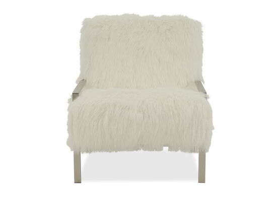 "Contemporary 29"" Accent Chair in White"