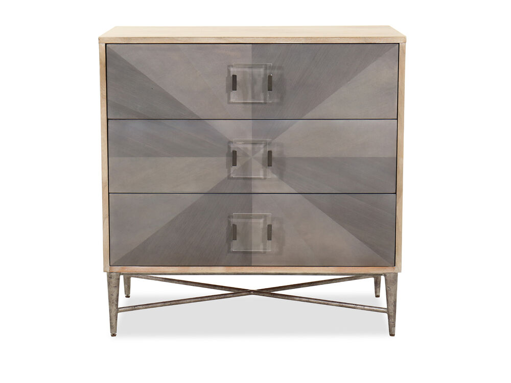 Transitional Three-Drawer Accent Chest in Gray