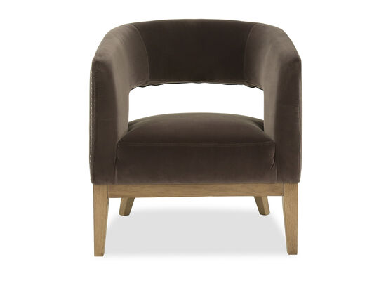 Contemporary Nailhead-Accented Chair in Gray