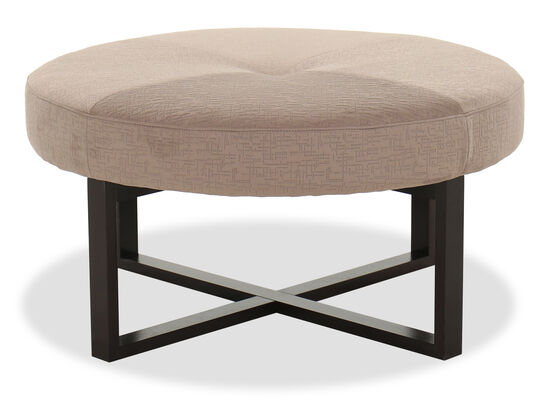 Button-Tufted Contemporary 36.5'' Ottoman in Antler