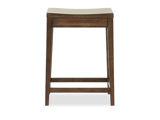 "Transitional 24"" Bar Stool in Shiitake"
