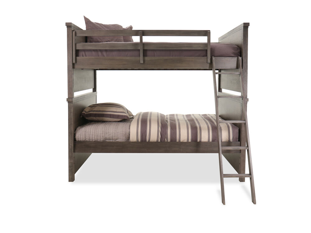 Transitional Youth Full Over Full Bunk Bed in Brown