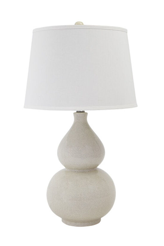 Double Gourd Contemporary Table Lamp in Cream