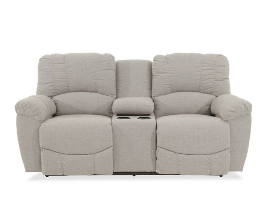 "Dual Reclining Casual 79"" Loveseat with Console in Gray"