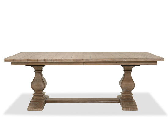 "84"" to 120"" Rectangular Trestle Dining Table in Cypress"