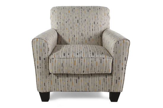 "Patterned Contemporary 35"" Accent Chair"