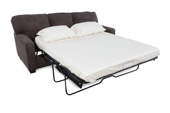 """Casual 82"""" Queen Sleeper Sofa in Dark Granite Gray"""