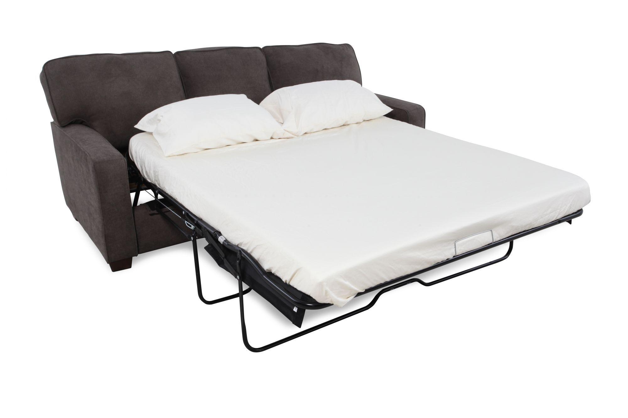 ... Casual 82u0026quot; Queen Sleeper Sofa In Dark Granite Gray