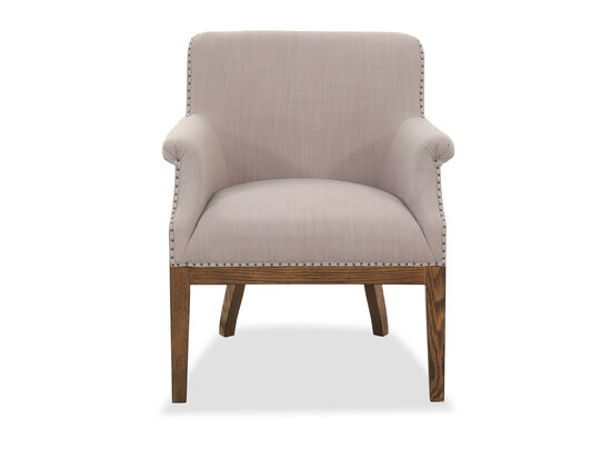 Nailhead-Trimmed Transitional 30'' Armchair in Dove