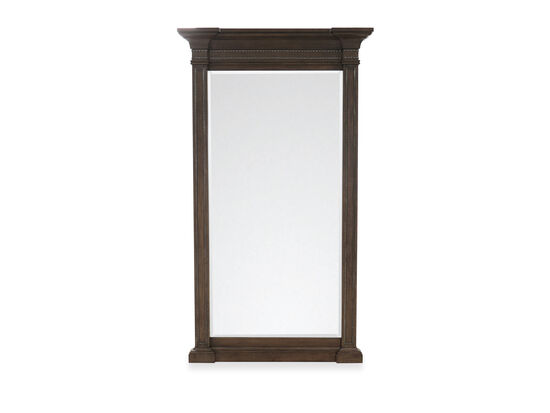 89'' Traditional Nailhead-Trim Floor Mirror in Truffle