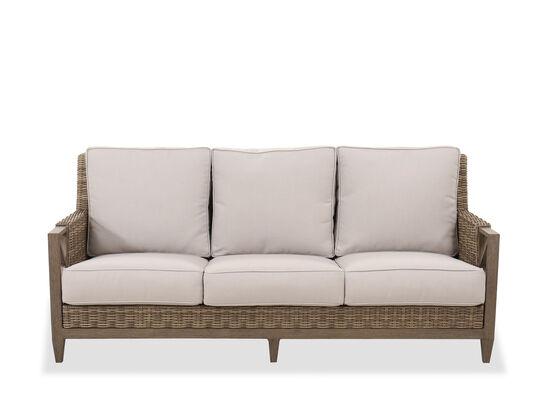Traditional Three-Cushion Sofa in Beige