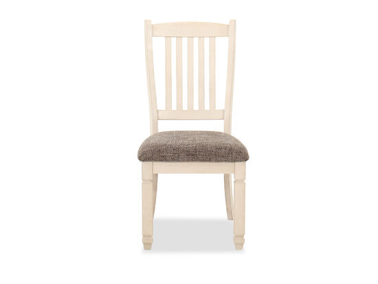 Solid Wood Rake-Back 40'' Side Chair in Antique White