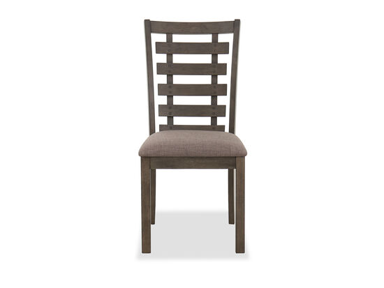 "Transitional 39.5"" Side Chair in Brown"