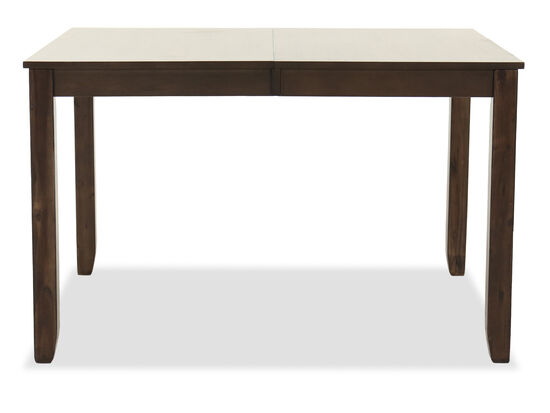 Rectangular Extension 48'' to 66'' Dining Table in in Brown