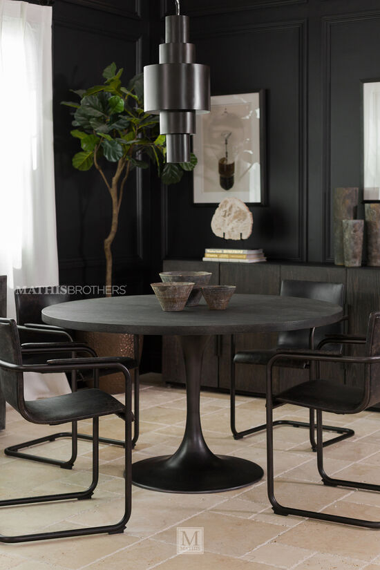 Round Dining Table in Brown