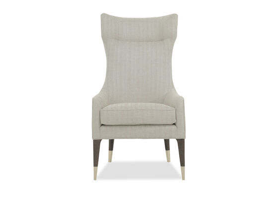 "Modern 27"" Tall Wing Chair in Beige"