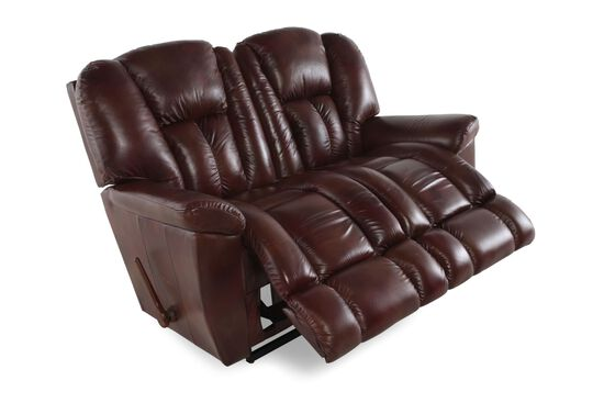 "Contemporary 64"" Loveseat in Mahogany"