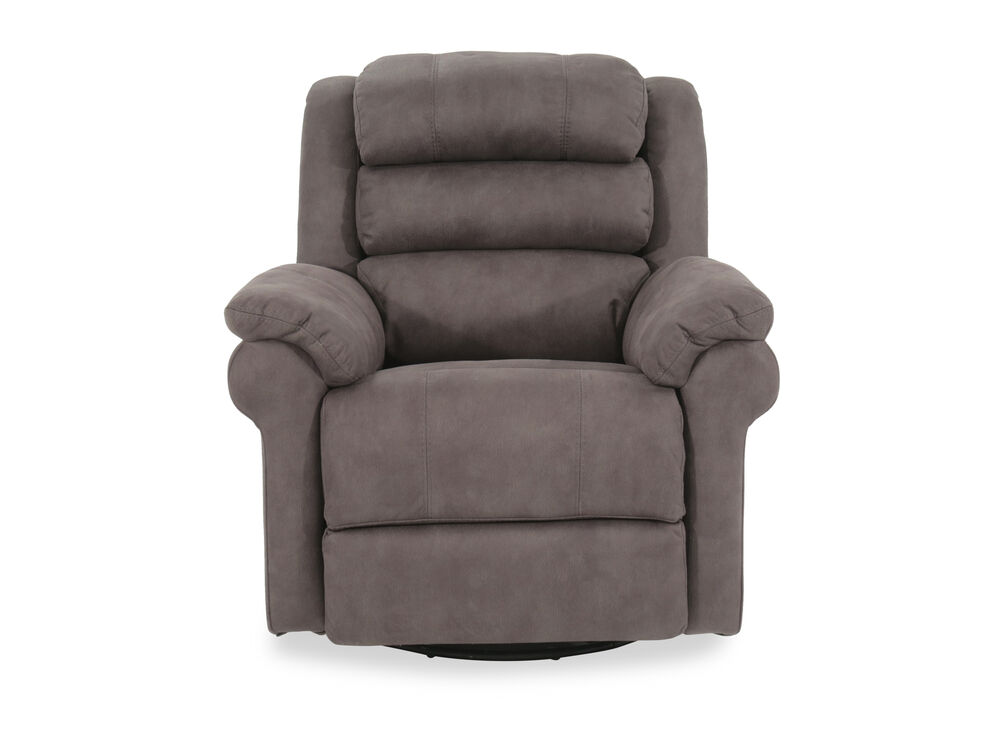 """Casual 38"""" Power Swivel Glider Recliner in Gray"""