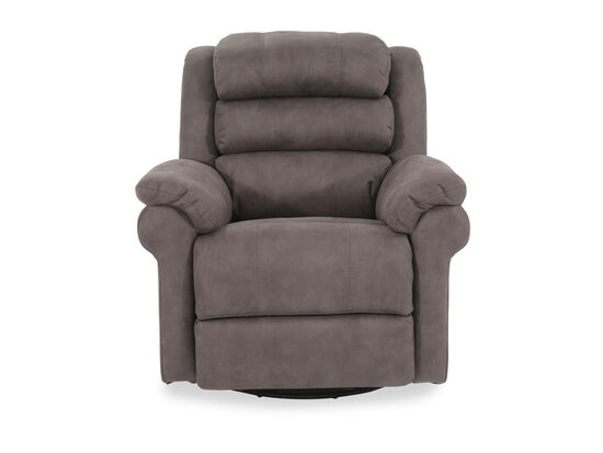 "Casual 38"" Power Swivel Glider Recliner in Gray"