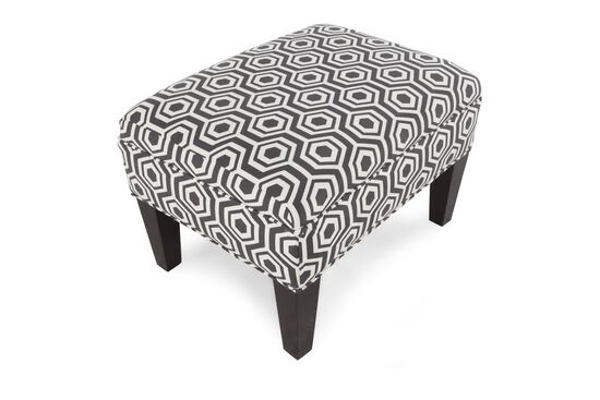 Hexagon Patterned Contemporary Ottoman