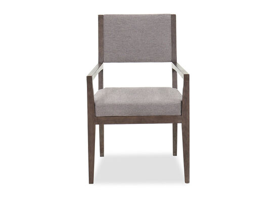 """Transitional 36.5"""" Dining Arm Chair in Cerused Charcoal"""