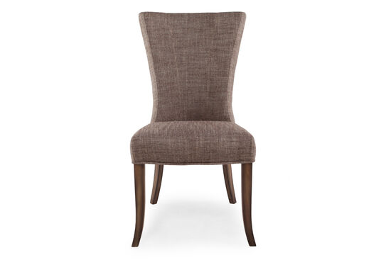 Sculptured Back 39'' Dining Chair in Khaki