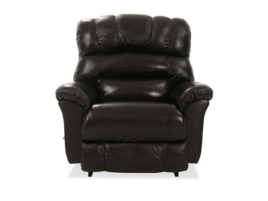 "45"" Casual Leather Rocking Recliner in Brown"