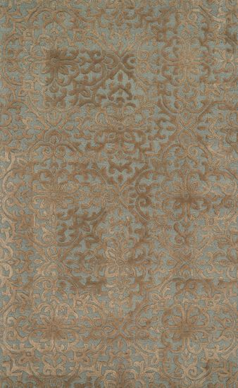 "Transitional 5'-0""x7'-6"" Rug in Mist/Camel"