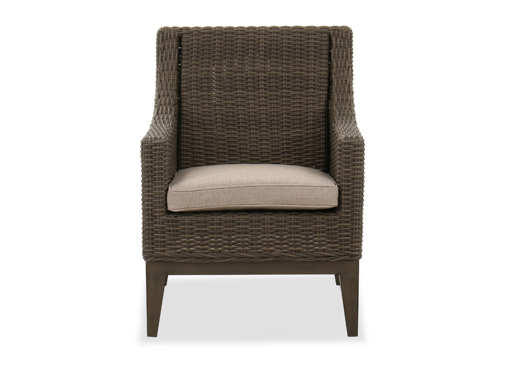 Wicker Contemporary Patio Dining Chair in Brown