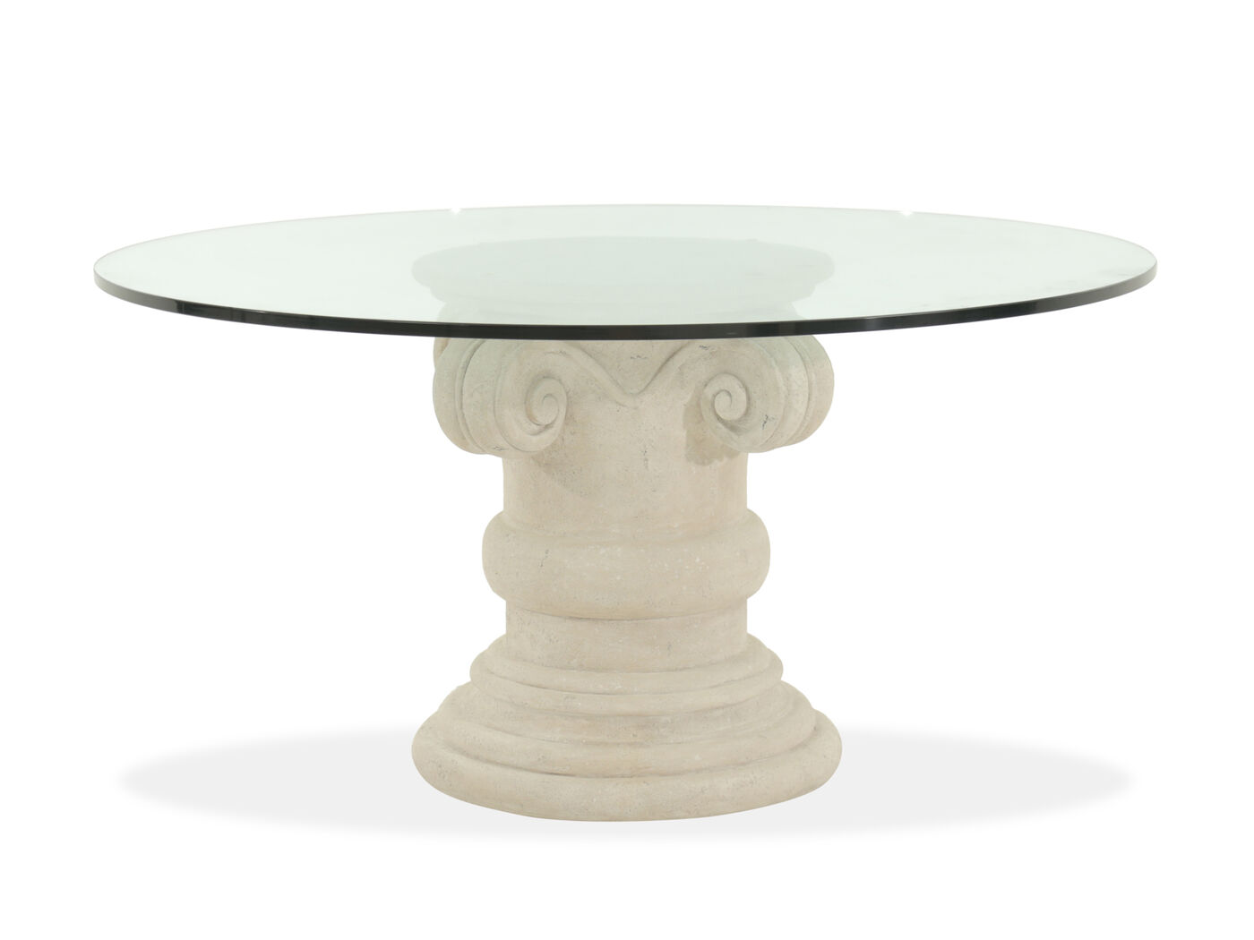 60 round glass dining table refined luxury 60 quot glass top dining table 7372